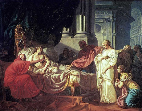Antiochus Ier et Stratonice Ire par Jacques-Louis David