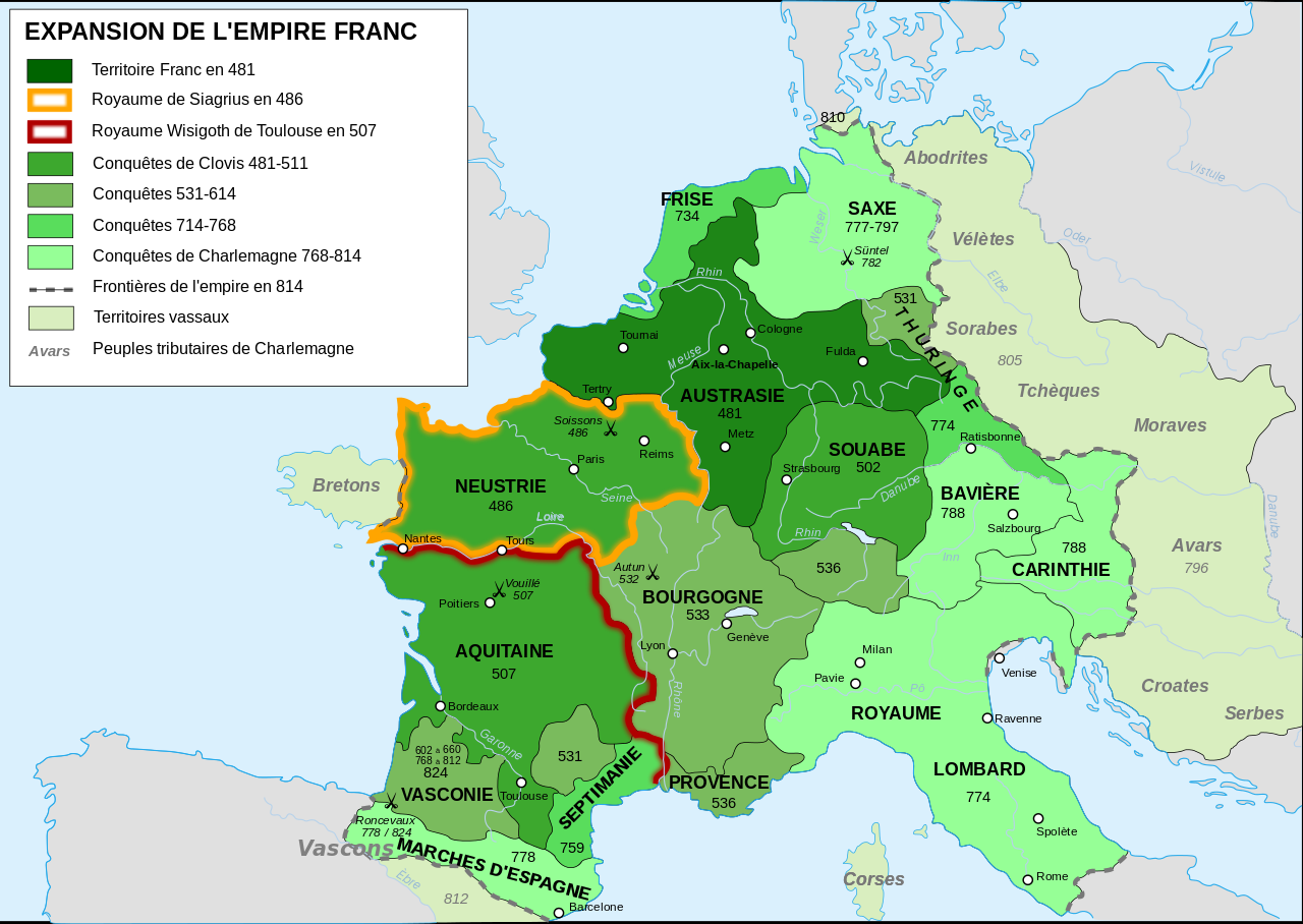 Expansion de l'empire franc